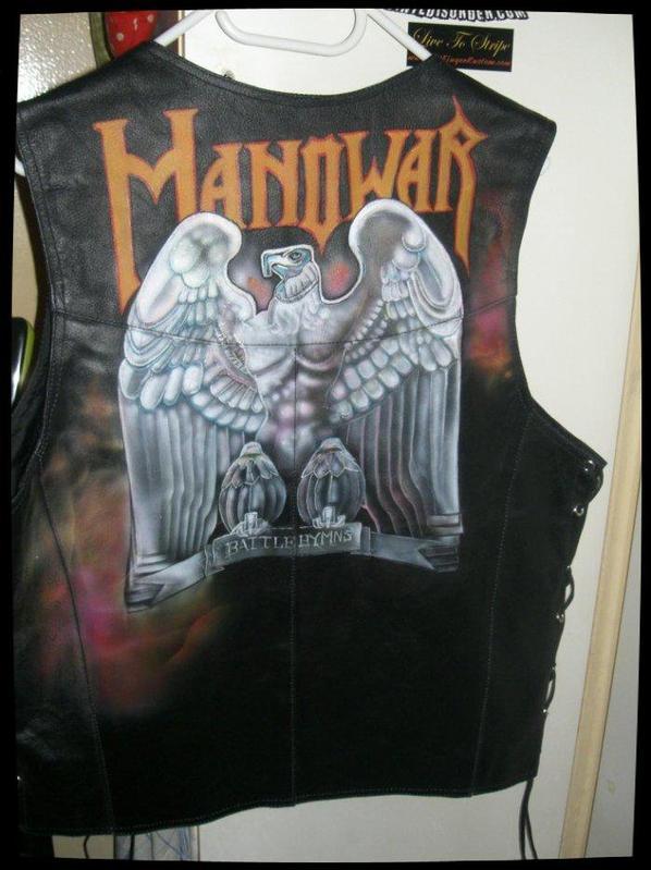Manowar - Gilet en cuir