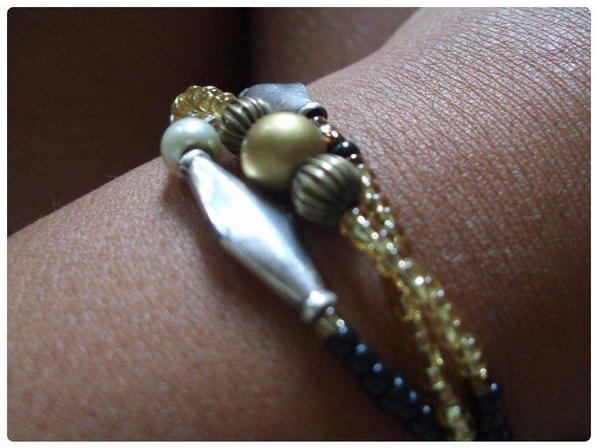 Bracelet trois tours perles