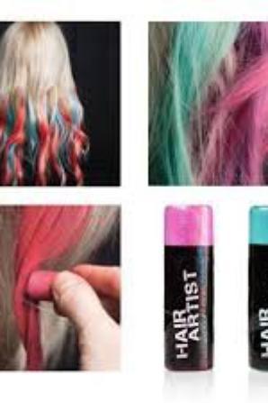 voici les craie pour les cheveux