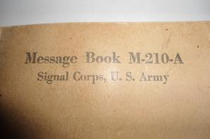 Message Book M-210 A