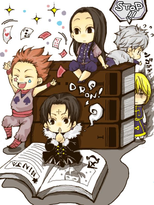 chibi hunterxhunter , One Piece et Mirai Nikki ^^
