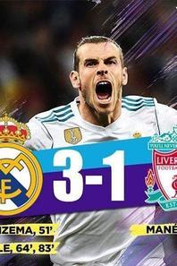 Finale Ligue des Champions 2018 : Real Madrid 3-1 Liverpool. Buts de Benzema et Bale x2 contre un but de Mané. Le Real Madrid puissance 13 et triplé consécutif historique de Zidane. Karius horribilis et Liverpool au fond du trou.  #UCLFinal2018 #ChampionsLeagueFinal #RealLiverpool #RMALIV #Zizou #GarethBale #Karius