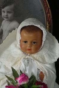 ROBE ET BONNET DE BAPTÊME