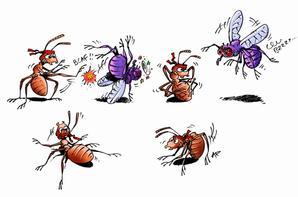 illustrations pour le livre Moi Parasite - De Pierre Kerner