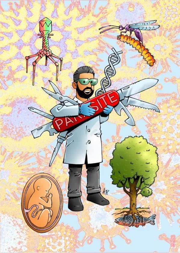 illustrations pour le livre Moi Parasite - De Pierre Kerner suite