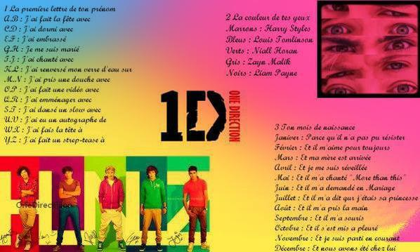 Test des one direction