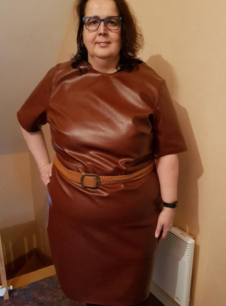 ma robe en simili doublé