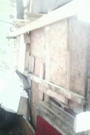 Le cote gauche de la cabane