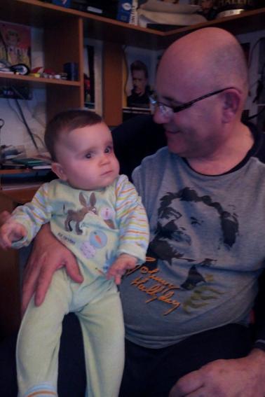 Noé avec son papa