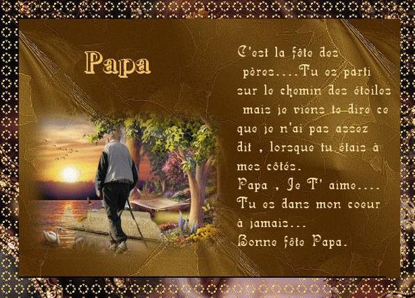 pour mon papa qui nous a quitté le 06/06/2014