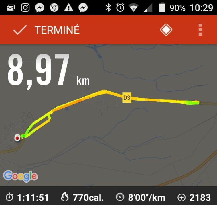 mes course du mois de août 2016