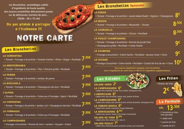 menu de bruschettaexpress