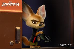 Cinq visuels des personnages de Zootopie