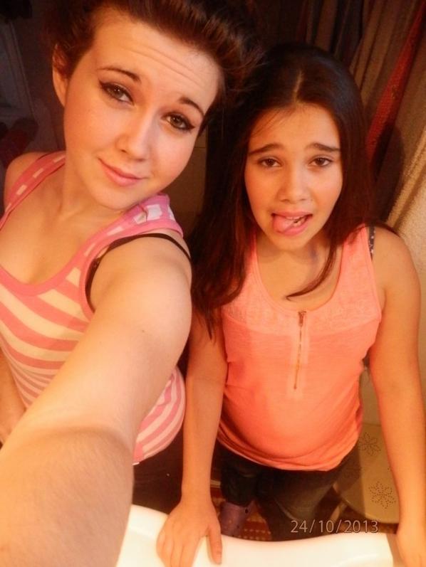 Avec la soeur ♥.