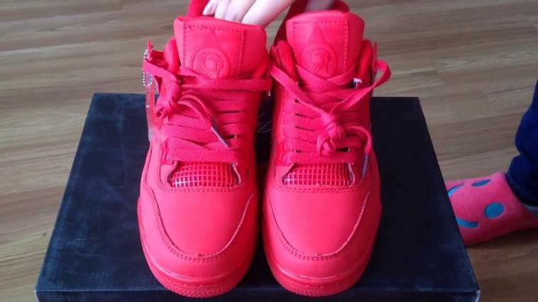 "Wholesale Nike Air Jordan 4 Retro ""Red October"" Custom Shoes At SportsYTB.Ru"