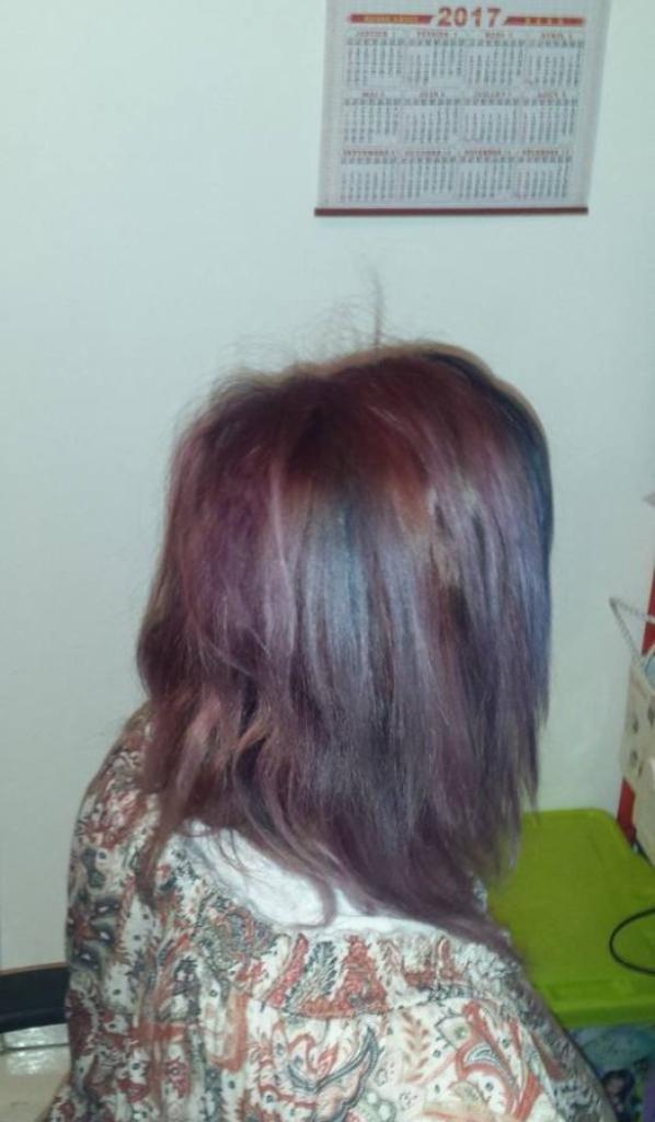 Mes cheveux de licorne !!!! <3 <3 <3