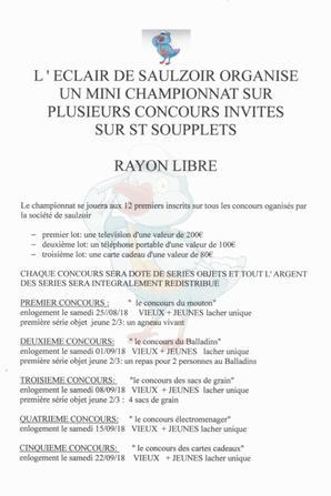 L'éclair de Saulzoir organise un mini championnat sur plusieurs concours
