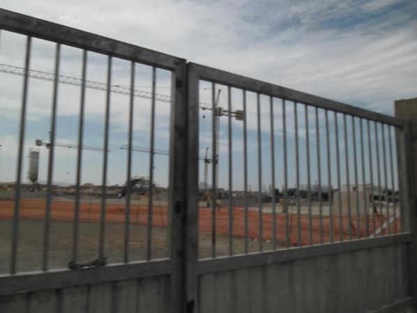 Travaux de la nouvelle gare d'Oujda