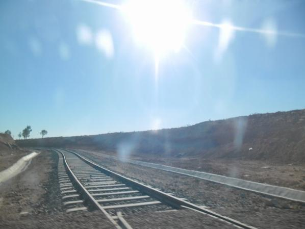 Travaux à la gare de Beni Oukil