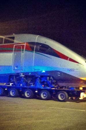 La 2ème rame TGV est arrivée le lundi 07/09/2015 au port de Tanger-Med