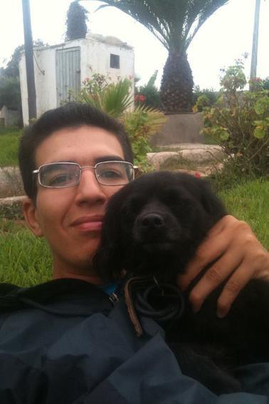 moi et ma jolie chienne Diana ♥