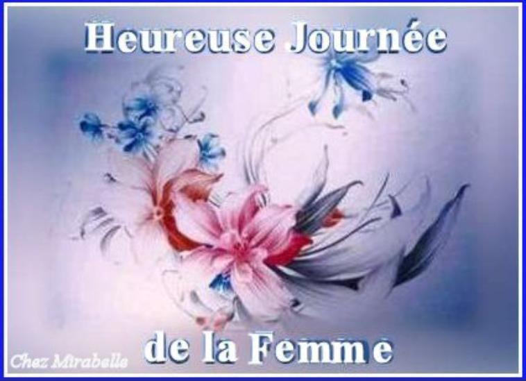 bonne fête à toutes les femmes du monde
