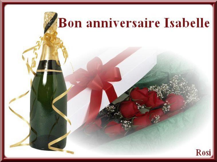 Joyeux Anniversaire Isabelle Gros Bisous Doux Love Sexy Amour