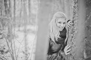 un shooting mémorable dans les bois enneigé avec Anais Tore