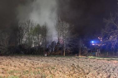 Feu a Stutzheim-Offenheim le 23/03/2014