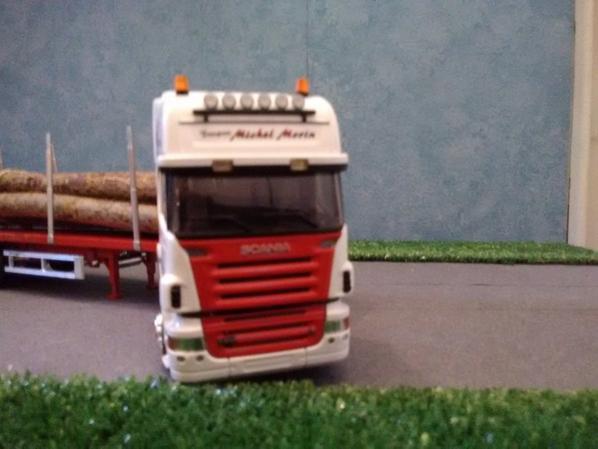 Scania série R Topline  Transport Michel Morin  Grumier