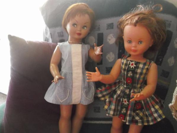 Voici deux Pierina donc celle de votre gauche que je vous ais présenté ce matin ( la plus ancienne ) et à votre droite le dernier modèle de Pierina
