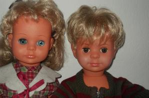Rosereine et Eric ; deux poupées anciennes petit colin