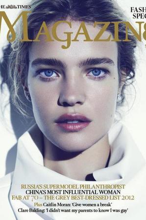 Couverture: Haper's Bazaar Octobre 2012 (26ème Anniversaire du Magazine) ; Couverture/Photoshoot: Magazine The Times par Jason Hetherington; Couverture: Cosmopolitan Octobre 2012