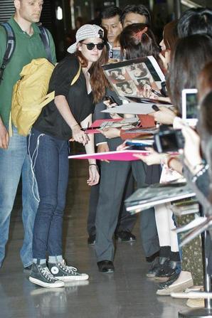 Magnifique et simple à l'aéroport au Japon,pour la tournée de BD2!