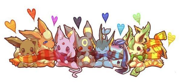 Hors sujet de mars : Eeveevolution ! (Les évolutions du Pokémon Evoli)