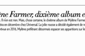 Nouvel album de Mylène pour décembre 2015