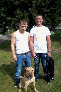 balade avec mon fils ma belle fille et mon chien