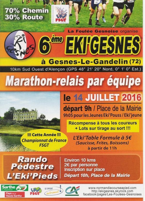EKI'GESNES 2016 / CETTE ANNEE CHAMPIONNAT DE FRANCE FSGT