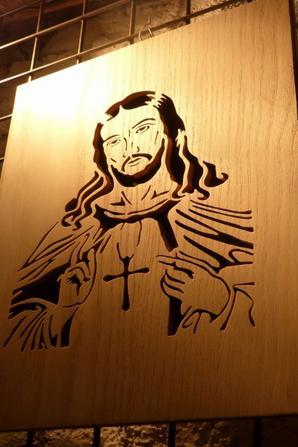 le christ chantourné