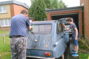 lavage de la carrosserie