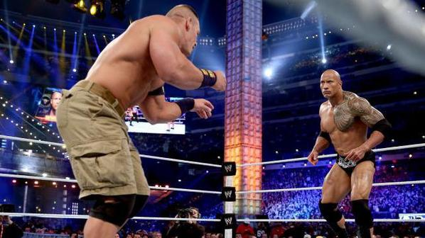 wrestlemania 29 : john cena vs the rock