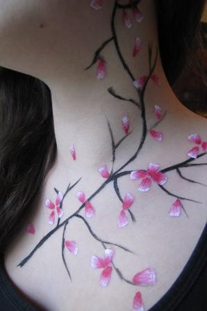 Body Art - Fleurs de cerisier