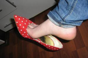 Mes escarpins et pieds nus