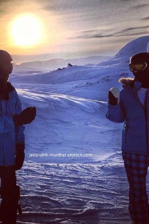 Ulrik était a Hemsedal en Norvège pour faire du ski