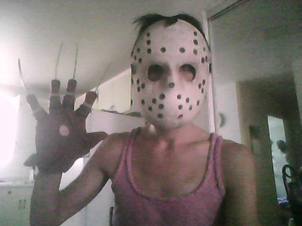 my jason hockey mask and my freddy glove