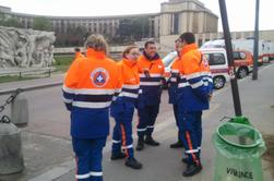 Renfort de la Protection Civile de Mauriac à Paris
