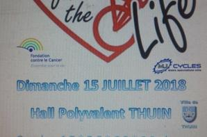 Bikeforthelife 5 ans déjà ! Save the date 15/07/2018 THUIN CYCLO