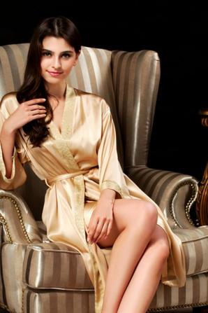 Ionlyou Women's 100% Silk Nightgown