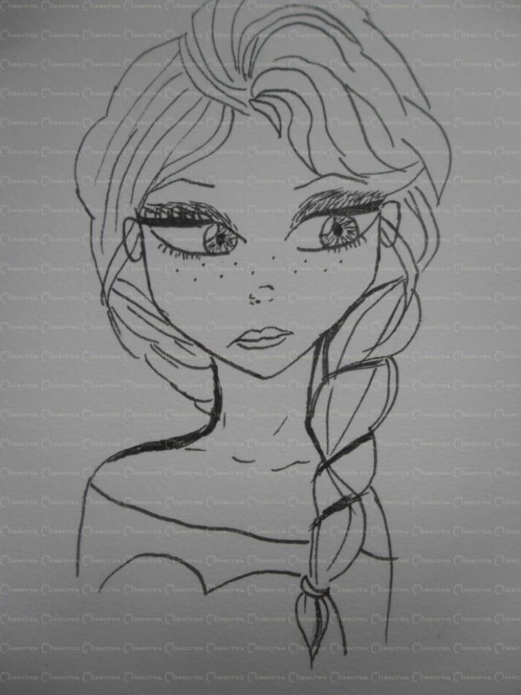 """Dessin #3 """"Elsa"""""""