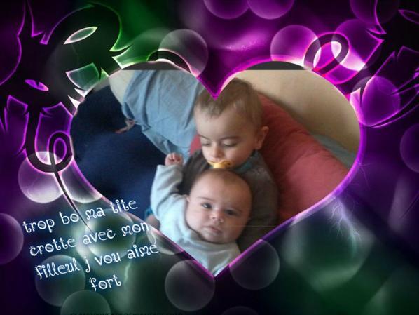 mon filleul damour e ma tite croote je vou aime telement